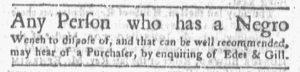 Oct 29 1770 - Boston-Gazette Slavery 3