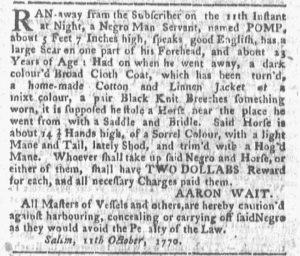 Oct 29 1770 - Boston-Gazette Slavery 4