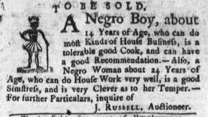 Oct 29 1770 - Massachusetts Gazette and Boston Post-Boy Slavery 3