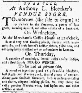 Oct 29 1770 - New-York Gazette and Weekly Mercury Slavery 1