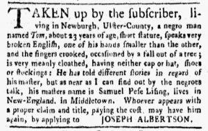 Oct 29 1770 - New-York Gazette and Weekly Mercury Slavery 2