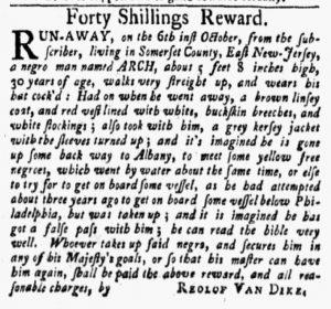 Oct 29 1770 - New-York Gazette and Weekly Mercury Slavery 6