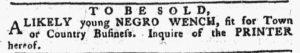 Oct 29 1770 - Pennsylvania Chronicle Slavery 2
