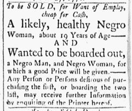 Oct 30 1770 - Essex Gazette Slavery 1