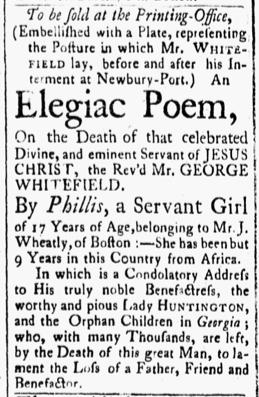 Oct 30 1770 - Essex Gazette Slavery 2