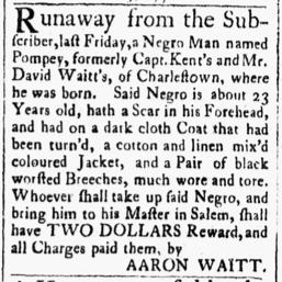 Oct 30 1770 - Essex Gazette Slavery 3