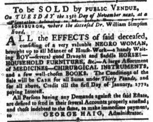 Oct 30 1770 - South-Carolina Gazette and Country Journal Slavery 4
