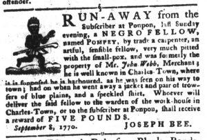 Oct 30 1770 - South-Carolina Gazette and Country Journal Slavery 6