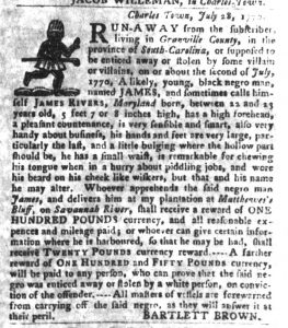 Oct 30 1770 - South-Carolina Gazette and Country Journal Supplement Slavery 6