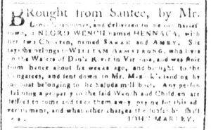 Oct 31 1770 - South-Carolina and American General Gazette Slavery 2