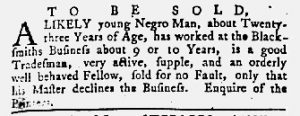 May 10 1770 - Maryland Gazette Supplement Slavery 1