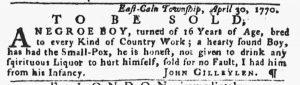 May 10 1770 - Pennsylvania Gazette Slavery 2