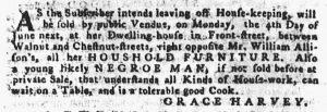 May 10 1770 - Pennsylvania Gazette Supplement Slavery 1