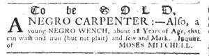 May 10 1770 - South-Carolina Gazette Slavery 10