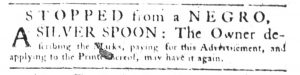 May 10 1770 - South-Carolina Gazette Slavery 11