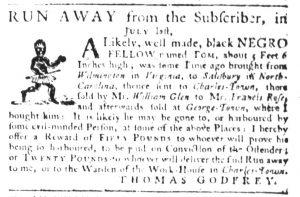 May 10 1770 - South-Carolina Gazette Slavery 13