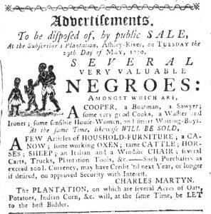 May 10 1770 - South-Carolina Gazette Slavery 15