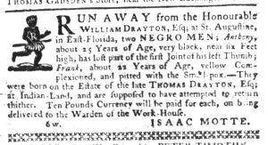 May 10 1770 - South-Carolina Gazette Slavery 16