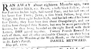 May 10 1770 - South-Carolina Gazette Slavery 2