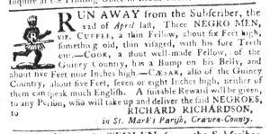 May 10 1770 - South-Carolina Gazette Slavery 5