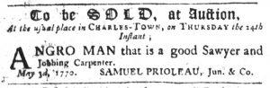 May 10 1770 - South-Carolina Gazette Slavery 7