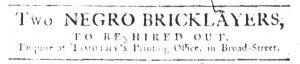 May 10 1770 - South-Carolina Gazette Slavery 9