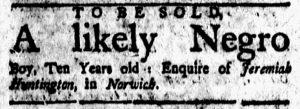 May 11 1770 - New-London Gazette Slavery 1