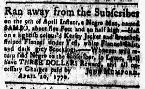 May 11 1770 - New-London Gazette Slavery 2
