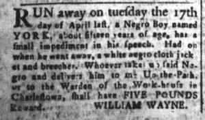 May 11 1770 - South-Carolina and American General Gazette Slavery 10