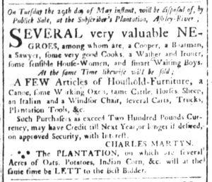 May 11 1770 - South-Carolina and American General Gazette Slavery 11