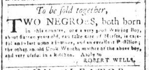 May 11 1770 - South-Carolina and American General Gazette Slavery 12
