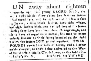 May 11 1770 - South-Carolina and American General Gazette Slavery 2