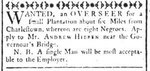 May 11 1770 - South-Carolina and American General Gazette Slavery 4