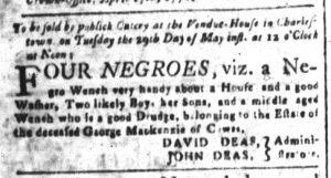 May 11 1770 - South-Carolina and American General Gazette Slavery 8