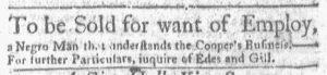 May 14 1770 - Boston-Gazette Slavery 1