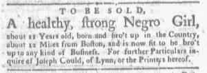 May 14 1770 - Boston-Gazette Slavery 2