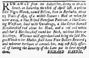 May 14 1770 - New-York Gazette and Weekly Mercury Slavery 1