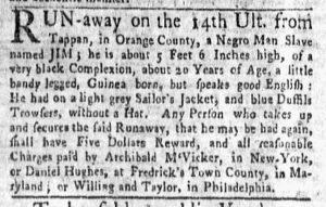 May 14 1770 - New-York Gazette and Weekly Mercury Supplement Slavery 1