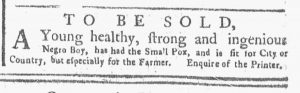 May 14 1770 - New-York Gazette or Weekly Post-Boy Slavery 2