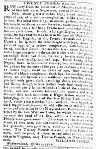 May 14 1770 - Pennsylvania Chronicle Slavery 1