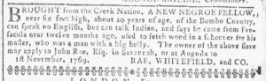 May 16 1770 - Georgia Gazette Slavery 3