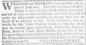 May 16 1770 - Georgia Gazette Slavery 4