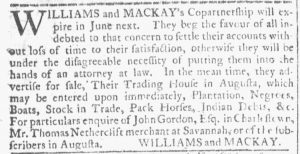 May 16 - 5:16:1770 Georgia Gazette