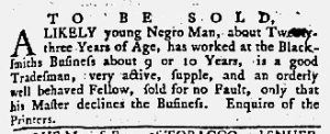 May 17 1770 - Maryland Gazette Supplement Slavery 1