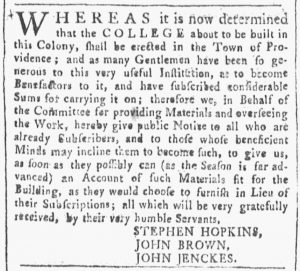 May 19 - 5:19:1770 Providence Gazette
