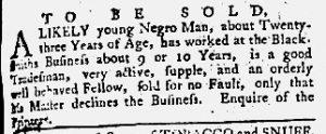 May 24 1770 - Maryland Gazette Supplement Slavery 1