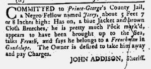 May 24 1770 - Maryland Gazette Supplement Slavery 2