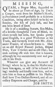 Aug 11 1770 - Providence Gazette Slavery 2