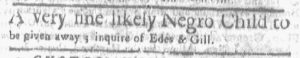 Aug 13 1770 - Boston-Gazette Slavery 2