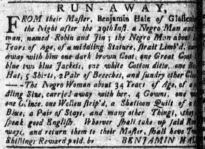 Aug 13 1770 - Connecticut Courant Slavery 2